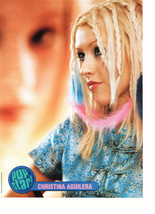 Christina Aguilera teen magazine pinup clipping looks sad Vintage 1990's braids