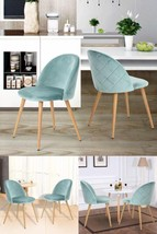 Dining Chairs Set Soft Cushion Padded Seat Lounge Retro Kitchen Living R... - €146,23 EUR