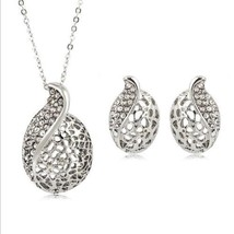 GORGEOUS POD MATCHING NECKLACE & EARRINGS   >> COMBINED SHIPPING <<  - $4.70