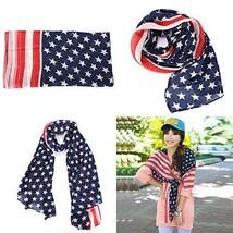 USA Flag Scarf Patriotic Stars and Stripes - 1x w/Random Color and Design