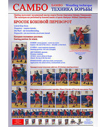 Sambo wrestling poster 1.Self-adhesive glossy paper. A4-210x297mm - $4.35