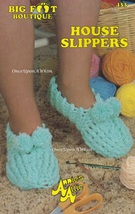 House Slippers, Annie's Attic Baby Bootie Boutique Crochet Pattern Leaflet 364 - $3.95