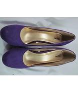 Mossimo Purple Suede Platform High Heels Sz 080 Med Width - $28.49