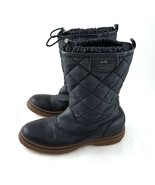 Coach Samara Black Quilted Lined Snow Winter Boots Mid Calf Womens 10 B - £50.38 GBP