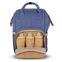 Diaper Bag Set, Large Travel Waterproof Prepared Diaper Bag For Men, Blue - $35.09