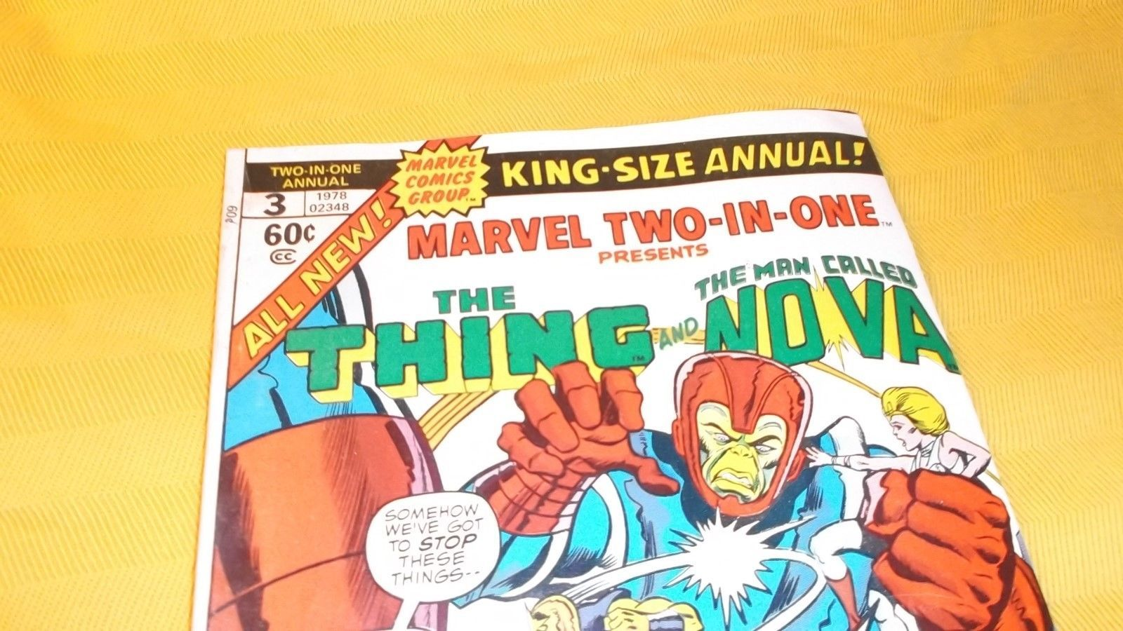 Marvel Two-In-One ANNUAL # 3 * The THING & NOVA * VF * 1978 * vs. The MONITORS!!