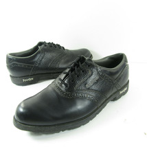 Footjoy GREENJOY 45534 Mens Black Leather Golf Spike Saddle Lace Shoes S... - $29.69