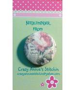 Vintage Rose Needleminder fabric cross stitch n... - $7.00