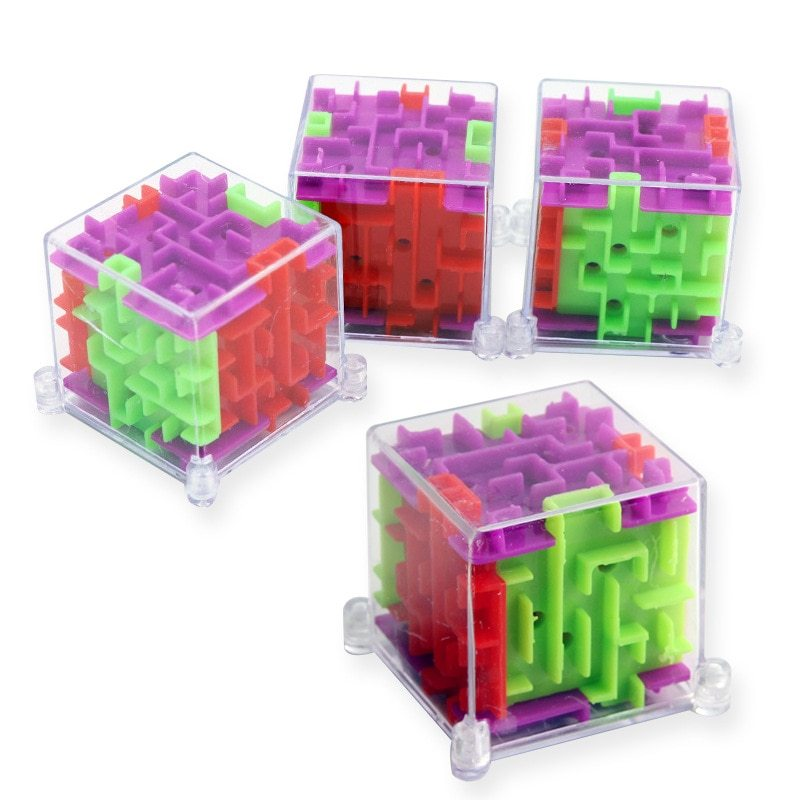 2018 New 2Pcs/lot Mini 3D Maze Magic  Puzzle Speed Puzzle Game Maze Ball Educati