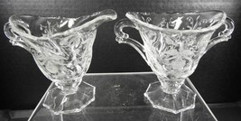 Antique Heisey Sugar and Creamer * Orchid Pattern - $7.98