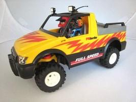Playmobil Pickup Truck w 2 People Race Car Drivers Turbo Car 2004 Geobra... - $23.95