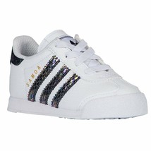 adidas Originals Toddlers Samoa Snake Fashion Sneaker White/Black BW1301 - $35.43