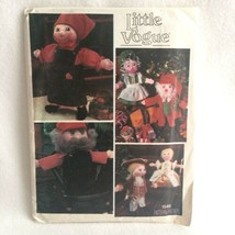 Vintage Vogue 1546 Doll & Clothing Pattern for Six Dolls Christmas Colon... - $10.00