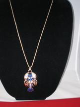 NEW Betsey Johnson Rhinestone Blue Lobster Pendant on lo... - $24.50