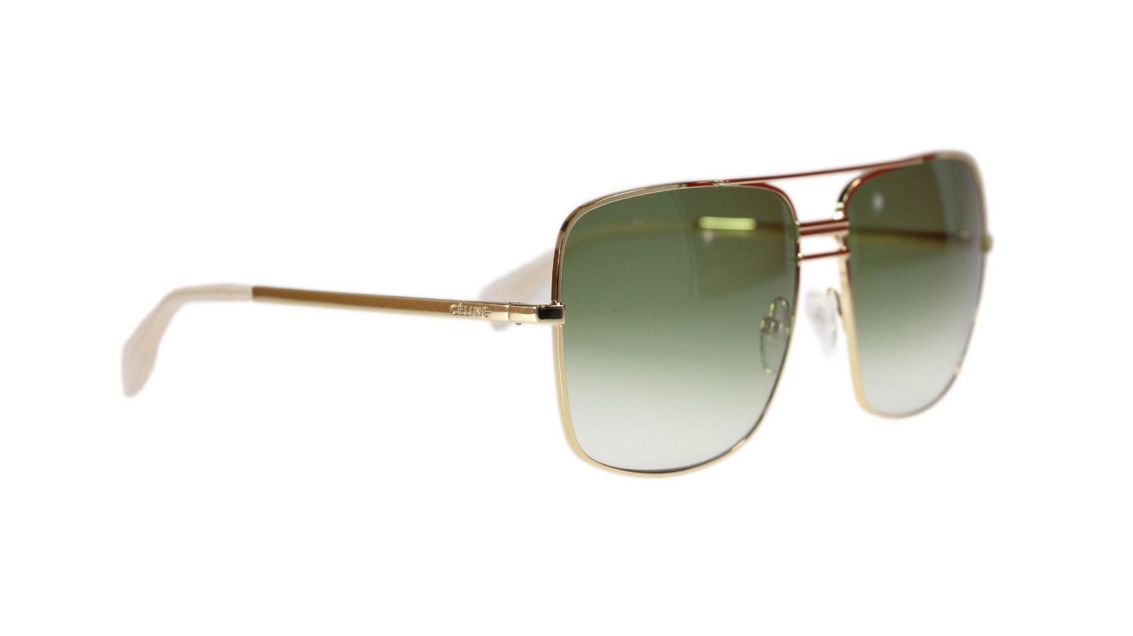 0e5cdaee459 Celine Cl41808 J5G Gold Green Gradient Lens Unisex Square Sunglasses  Authentic