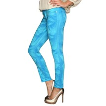 Juicy Couture Black Label Water Blue Tropic Stretch Skinny Crop Jeans 28... - $49.01