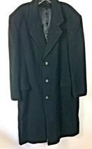 Nicolo Men's Black 3 Button Wool & Cashmere Overcoat - Size 42S - $24.00