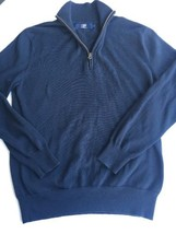"J Crew HALF-ZIP Cotton Sweater Sz S ""Great Condition"" - $18.99"