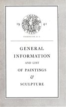 General Information & List Of Paintings & Sculpture National Gallery of ... - $4.95