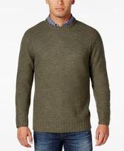 NWT $90 Weatherproof Vintage Men's XXXL Honeycomb Crew-Neck Sweater Oliv... - $47.49