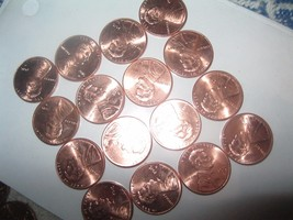 16 lincoln SHIELD CENTS MIRROR LIKE UNC  FROM MY US ROLL D & S MINTS - $5.44