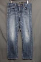 Men's AE Slim Jeans Faded Blue Wash Distressed American Eagle 32 x 30 AEO  - $435,61 MXN