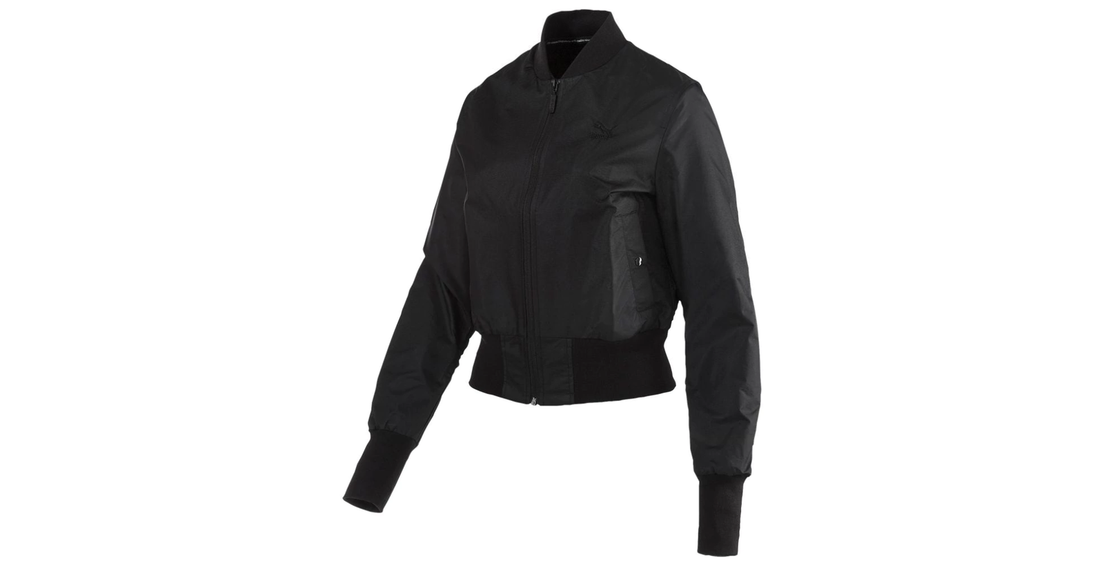 Puma Women's Active Iridescent Black Bomber Jacket - Size S
