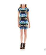 Bailey Girl Bailey Blue Cap-sleeve Aztec Print Cobalt T-shirt Dress Size M - $14.99