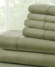 Ienjoy Home Solids in Style by The Home Collection 4 PC Cal King Sheet Set-Sage - $30.09
