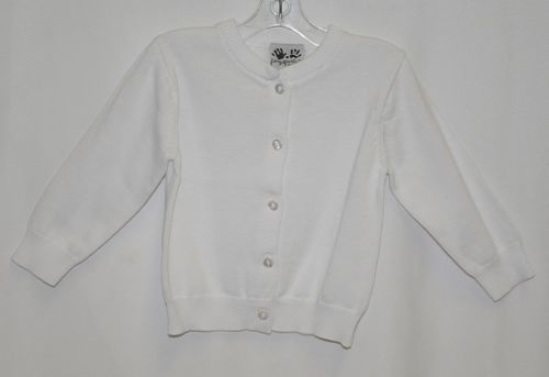 Finger Prints New York Classic White Cardigan Button Up 12 Months