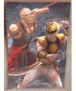 White Ranger vs Baraka Glossy Art Print 11 x 17 In Hard Plastic Sleeve - $24.99