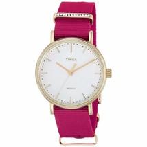 Timex Fairfield Crystal Quartz Movement White Dial Ladies Watch TW2R48600  - $32.66
