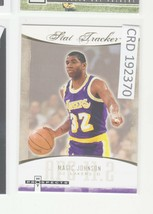 2007-08 Fleer Hot Prospects Stat Tracker #ST-24 Magic Johnson Lakers  19... - $0.98