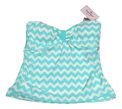Juicy Couture Blue White Tropical Waves Bandini Womens Size Medium  - $24.99