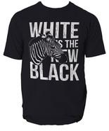 Zebra t shirt animal white is the new black s-3xl - $13.77+