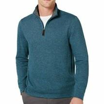 Tasso Elba Men's Birdseye Quarter-Zip Sweater Teal Combo-Size 2XL - $19.99