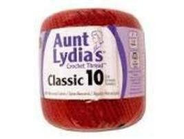 Coats Crochet Aunt Lydia's Crochet, Cotton Classic Size 10, Victory Red by Coats - $6.09