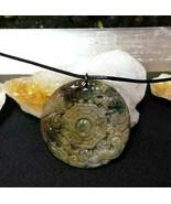 Necklace, Yin-Yang Symbol W/ Dragon Hand Carved Natural Jasper Women Men... - $19.79