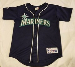 Vintage Made In USA Seattle Mariners Jersey Stitched Majestic MLB Baseba... - $48.99