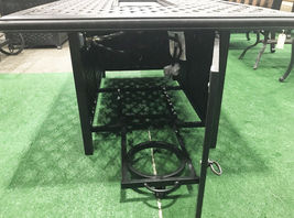 Cast aluminum propane fire pit table coffee outdoor patio furniture Desert Bronz image 4