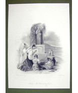 SICILY Virgin Shrine Young Maidens Mount Etna - SUPERB Quality Print Eng... - $22.95