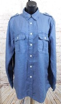 Lucky Brand Men's Button Down Blue Long Sleeve Shirt Size: Small