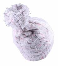 Bench Femmes Chasse Crème Rose Câble Tricot Poly Pompom Chapeau Bonnet Hiver Nwt image 2