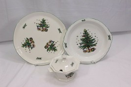 Nikko Christmastime Sauce Tureen Platter Pie Plate Set of 3 - $61.25