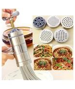 5 Mode Stainless Steel Pasta Noodle Maker Machine Handmade Press Spaghet... - $33.35