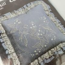 Olde Mill Candlewicking Pillow Kit Blue Birds 04-449 Silk Screened Fabri... - $14.85