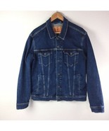 Levi's Strauss Dark Wash Denim Trucker Jean Jacket Men's Large 72334 - $40.19