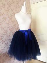 Navy blue Women Cheap Tulle Skirt Custom Size Navy Midi Tulle Skirt NWT image 2