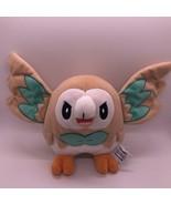 "Tomy Pokemon Rowlet Owl 7"" Tan Plush 12"" Wingspan Stuffed Animal - $18.00"