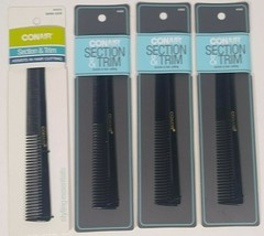 Conair Barber Comb Section And Trim #93503z 4pack - $7.99